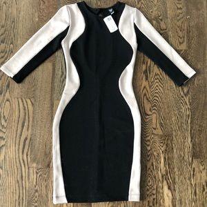 Black and cream silhouette dress NEW